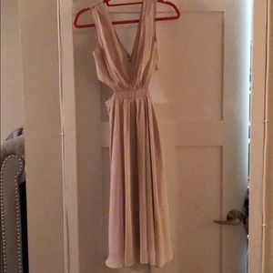 ASOS cut out nude dress, worn once